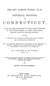 Cover of General History of Connecticut, from Its First Settlement Under George Fenwick to its Latest Period of Amity with Great Britain