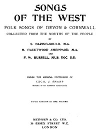 Cover of Songs of the WestFolk Songs of Devon & Cornwall Collected from the Mouths of the People