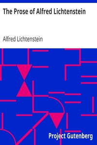 Cover of The Prose of Alfred Lichtenstein