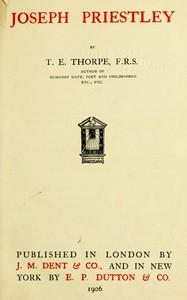 Cover of Joseph Priestley