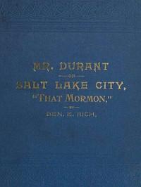 "Cover of Mr. Durant of Salt Lake City, ""That Mormon"""