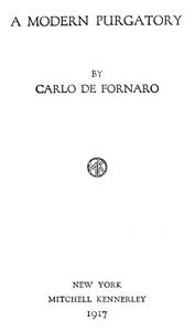 Cover of A Modern Purgatory