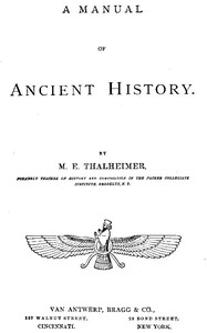 Cover of A Manual of Ancient History
