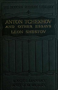 Cover of Anton Tchekhov, and Other Essays