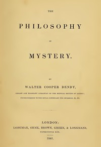 Cover of The Philosophy of Mystery