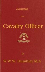 Cover of Journal of a Cavalry Officer; Including the Memorable Sikh Campaign of 1845-1846