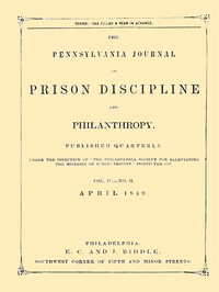 Cover of The Pennsylvania Journal of Prison Discipline and Philanthropy (Vol. IV, No. II, April 1849)