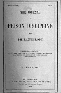 The Journal of Prison Discipline and Philanthropy (New Series, No. 3, January 1864)