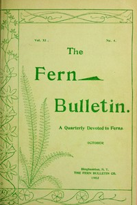 Cover of The Fern Bulletin, October 1903A Quarterly Devoted to Ferns