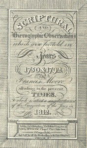 Cover of Scriptural and Hieroglyphic Observations which were foretold in the years of 1750 & 1792 To which is added a singular account of the emigration of the Jews in 1812