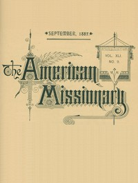 Cover of The American Missionary — Volume 41, No. 9, September, 1887