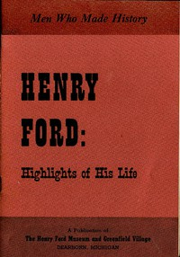 Cover of Henry Ford: Highlights of His Life