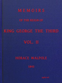 Cover of Memoirs of the Reign of King George the Third, Volume 2 (of 4)