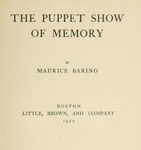 Cover of The Puppet Show of Memory