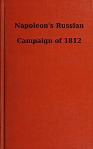 Cover of Napoleon's Russian Campaign of 1812