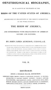 Cover of Ornithological Biography, Volume 2 (of 5)An Account of the Habits of the Birds of the United States of America
