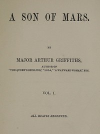 Cover of A Son of Mars, volume 1