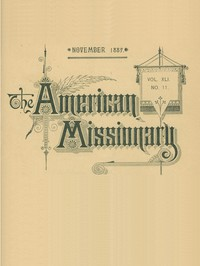 Cover of The American Missionary — Volume 41, No. 11, November, 1887