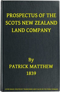 Prospectus of the Scots New Zealand Land Company