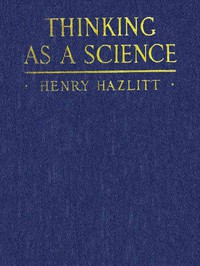 Cover of Thinking as a Science