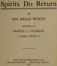 Spirits Do Return