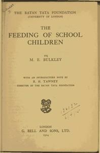 Cover of The Feeding of School Children