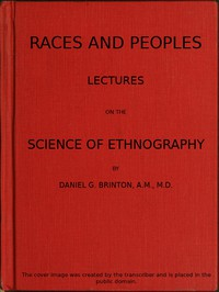 Races and Peoples: Lectures on the Science of Ethnography