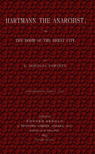 Cover of Hartmann, the Anarchist; Or, The Doom of the Great City