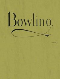 Cover of Bowling Catalog E