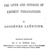 Cover of The Lives and Opinions of Eminent Philosophers