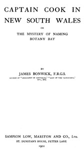 Cover of Captain Cook in New South Wales; Or, The Mystery of Naming Botany Bay