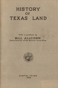 Cover of History of Texas Land