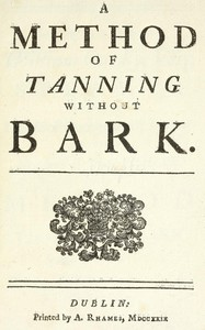 A Method of Tanning without Bark