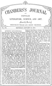 Cover of Chambers's Journal of Popular Literature, Science, and Art, No. 735, January 26, 1878