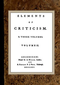 Cover of Elements of Criticism, Volume II.