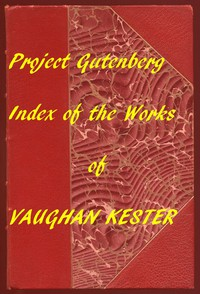 Cover of Index of the Project Gutenberg Works of Vaughan Kester