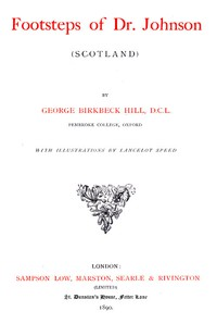 Cover of Footsteps of Dr. Johnson (Scotland)