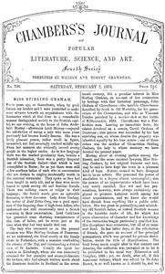 Cover of Chambers's Journal of Popular Literature, Science, and Art, No. 736, February 2, 1878