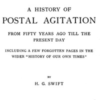 Cover of A history of postal agitation from fifty years ago till the present day