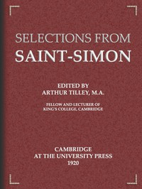 Cover of Selections from Saint-Simon