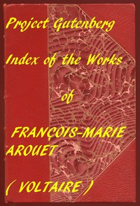 Index of the PG Works of Voltaire in English