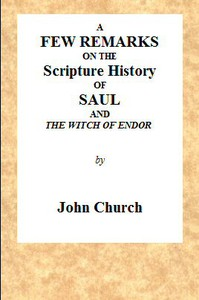 Cover of A Few Remarks on the Scripture History of Saul and the Witch of Endor