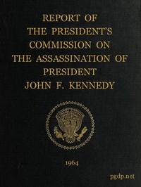 Cover of Report of the President's Commission on the Assassination of President John F. Kennedy
