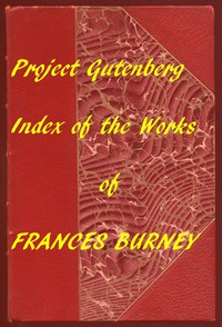Cover of Index of the Project Gutenberg Works of Madame D'Arblay (Frances Burney)