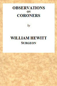 Cover of Observations on Coroners
