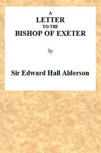 Cover of A Letter to the Bishop of Exeter