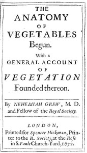 Cover of The Anatomy of Vegetables BegunWith a General Account of Vegetation founded thereon