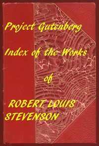 Cover of Index of the Project Gutenberg works of Robert Louis Stevenson