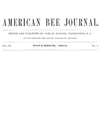 The American Bee Journal, Vol. VI., Number 5, November 1870
