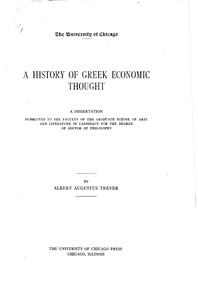 Cover of A History of Greek Economic Thought